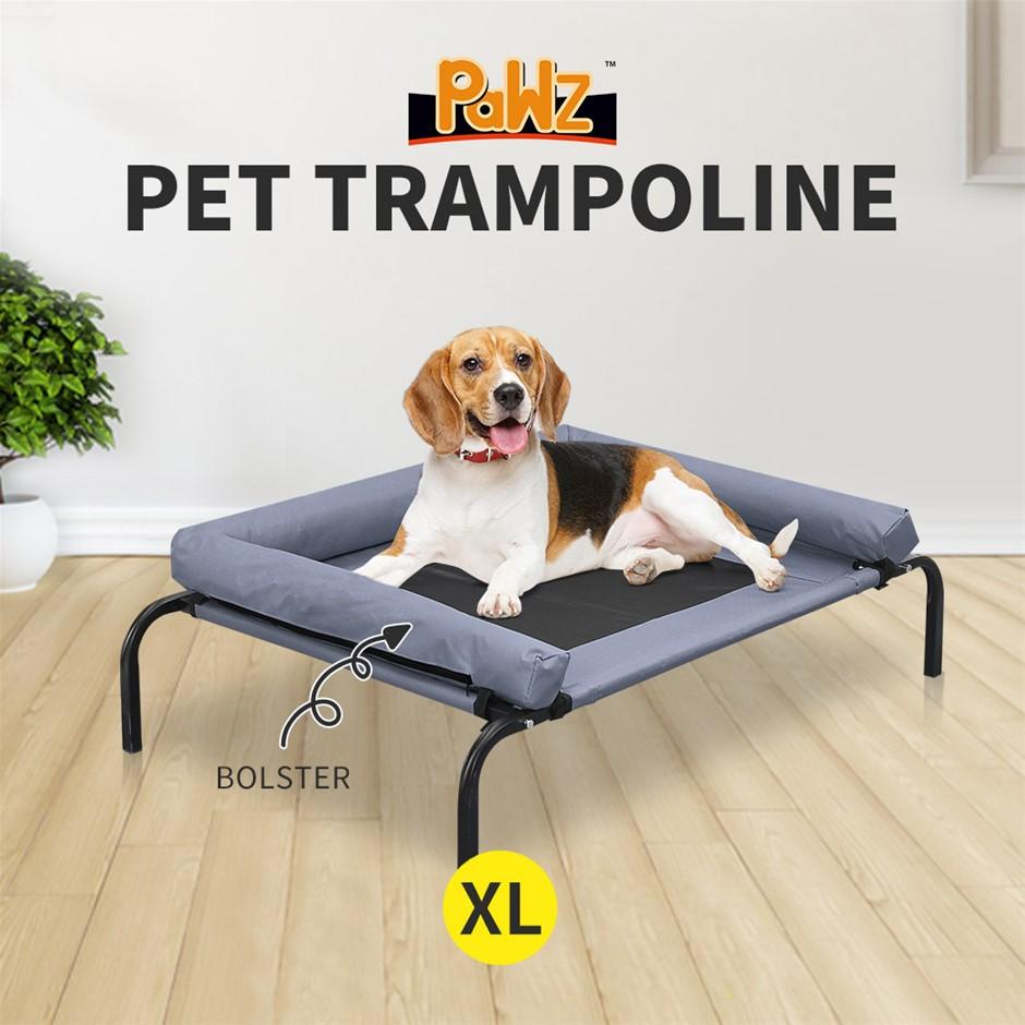 PaWz Heavy Duty Pet Bed Bolster Trampoline Dog Puppy Cat Hammock Mesh XL