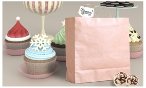 50x Brown Paper Bag Kraft Eco Recyclable