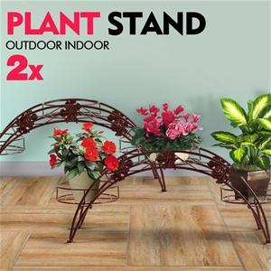 2X Plant Stand Outdoor Indoor Flower Pot