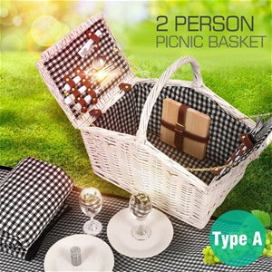 2 Person Picnic Basket Baskets Set Outdo