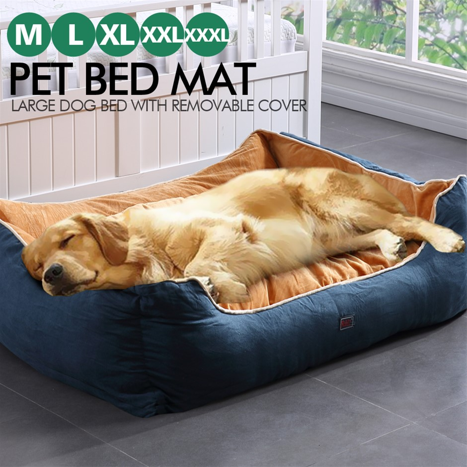PaWz Pet Bed Mattress Dog Cat Pad Mat Cushion Soft Warm Washable 3XL Blue