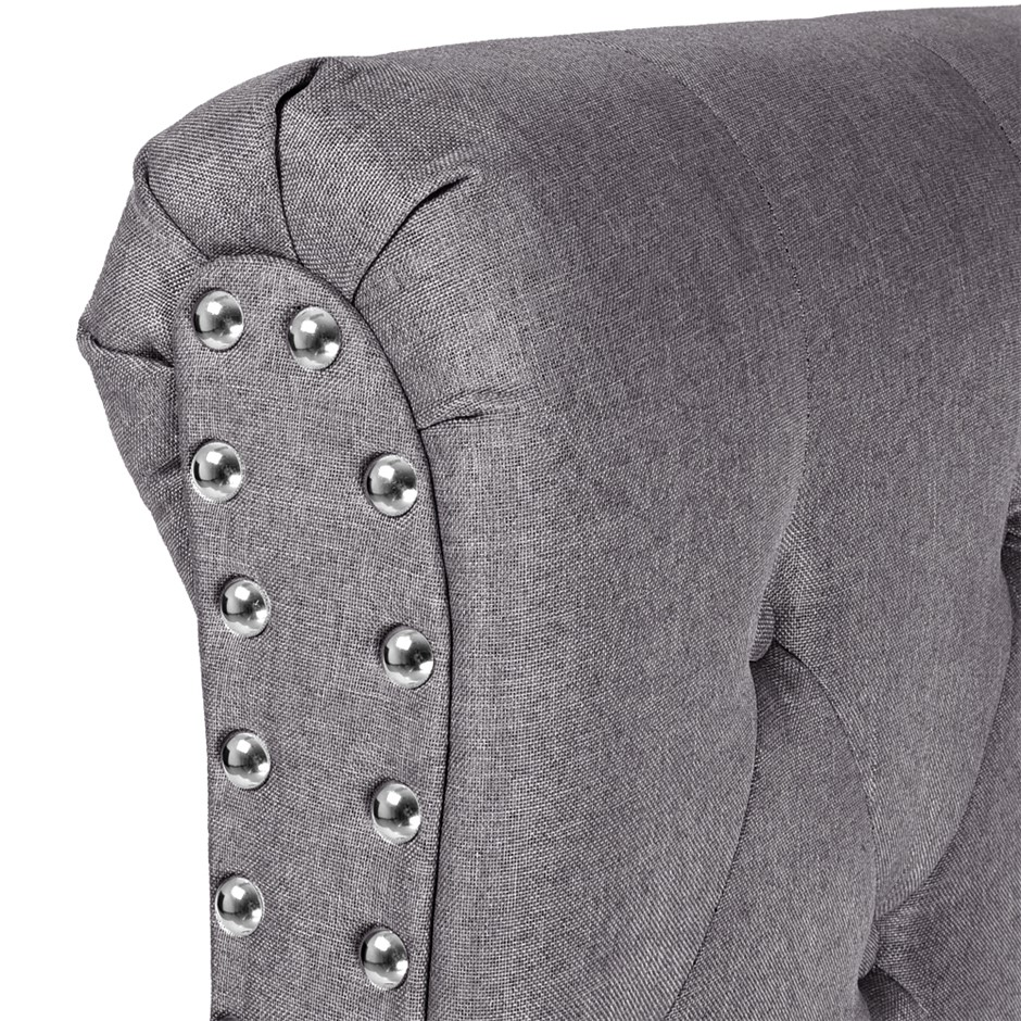 Levede Upholstered Fabric Bed Headboard in Double Size in Charcoal Colour