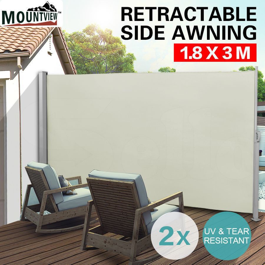 2x Retractable Side Awning Shade Home Patio Garden Terrace Screen Panel