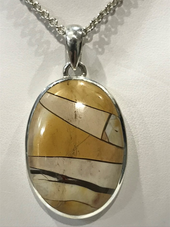 Handcrafted Freeform Beccirated Mookaite Pendant