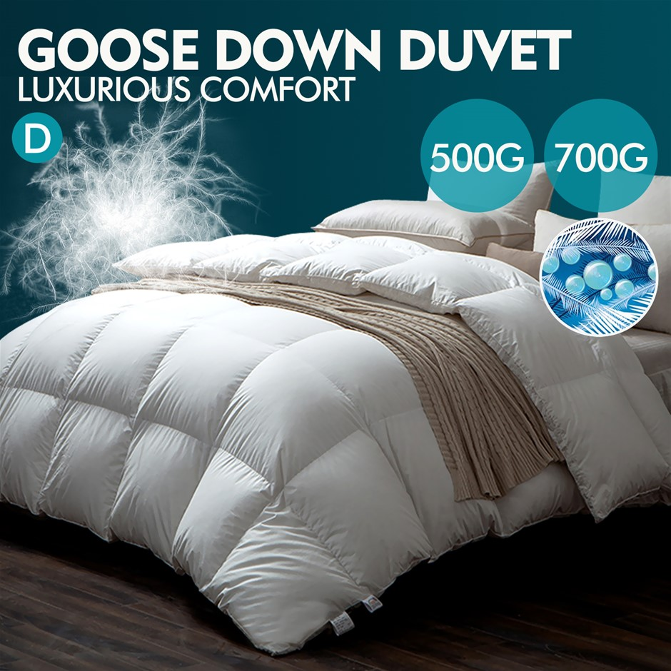 DreamZ 500GSM All Season Goose Down Feather Filling Duvet in Double Size