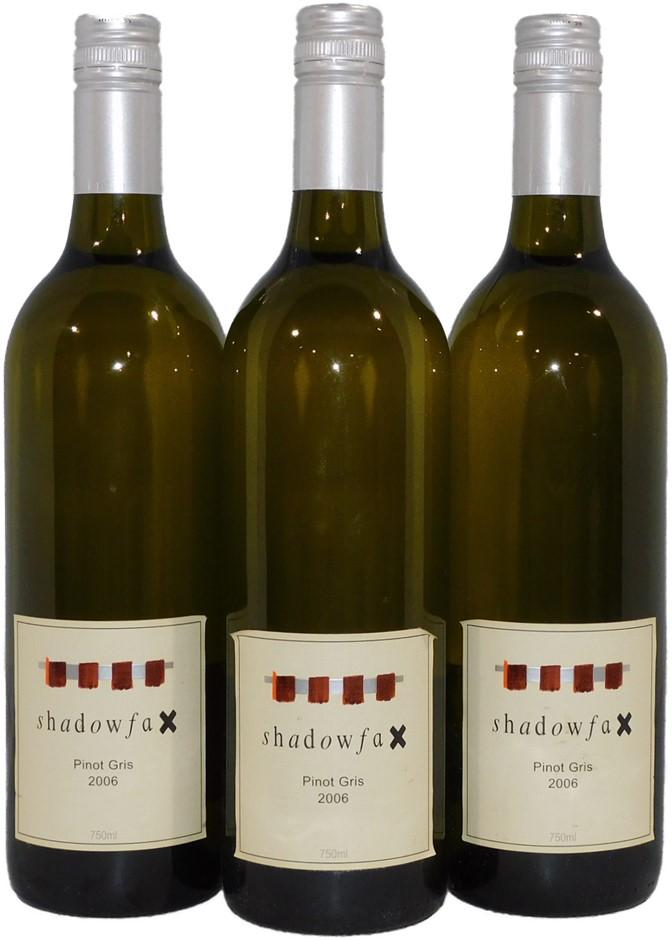 Shadowfax Pinot Gris 2006 (3x 750mL), Adelaide Hills. Screwcap