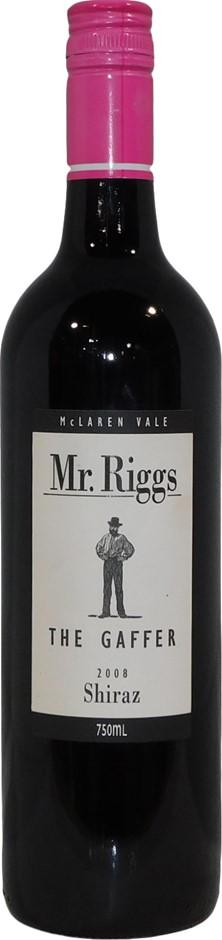 Mr Riggs The Gaffer Shiraz 2008 (6x 750mL), McLaren Vale. Screwcap