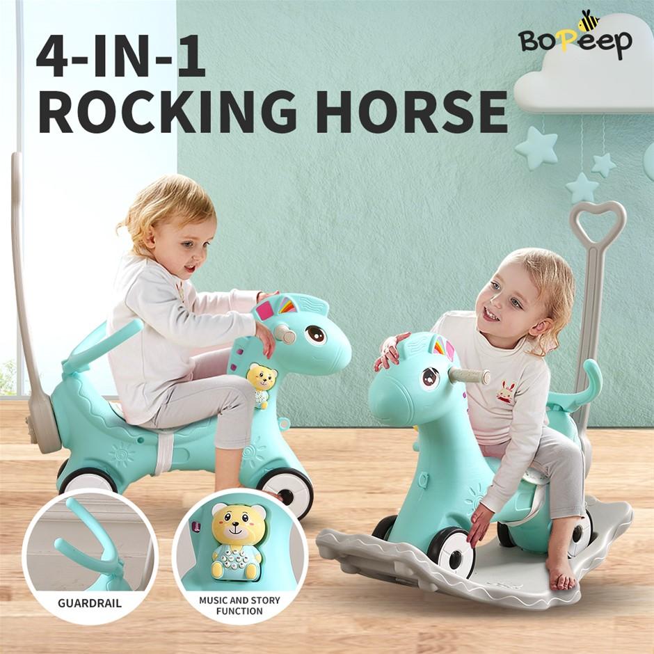 BoPeep Kids 4-in-1 Rocking Horse Toddler Baby Horses Ride On Toy Rocker