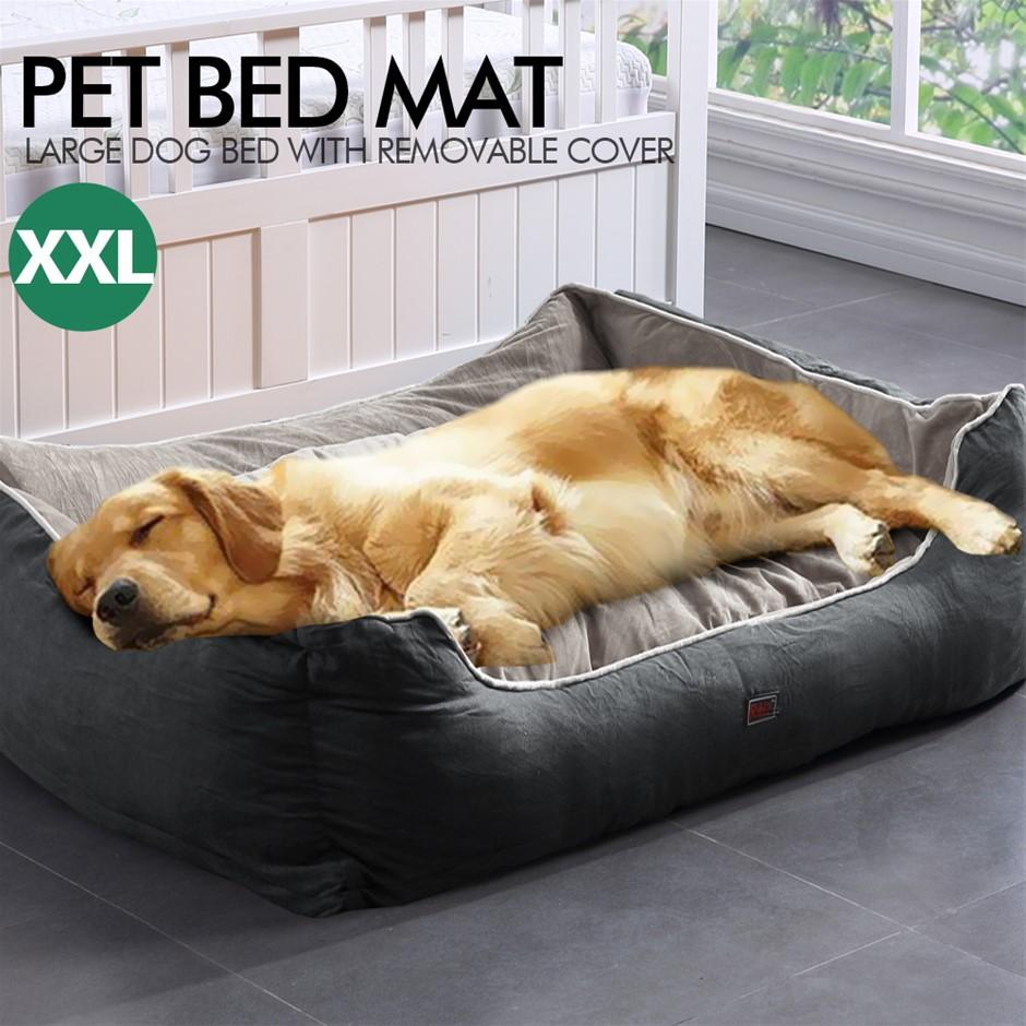 PaWz Pet Bed Mattress Dog Cat Pad Mat Cushion Soft Warm Washable 2XL Grey
