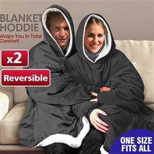 2 Pcs DreamZ Plush Fleece Sherpa Hoodie
