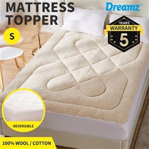 Dreamz Mattress Topper 100% Wool Underla