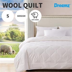 DreamZ 100% Wool Quilt Luxury Doona Duve