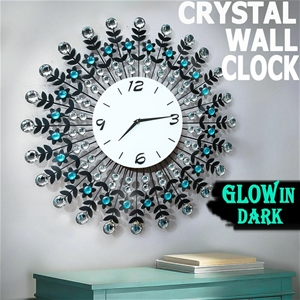 Large Modern 3D Crystal Wall Clock Luxur