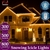800 LED Curtain Fairy String Lights Outdoor Xmas Party Lights Cool White