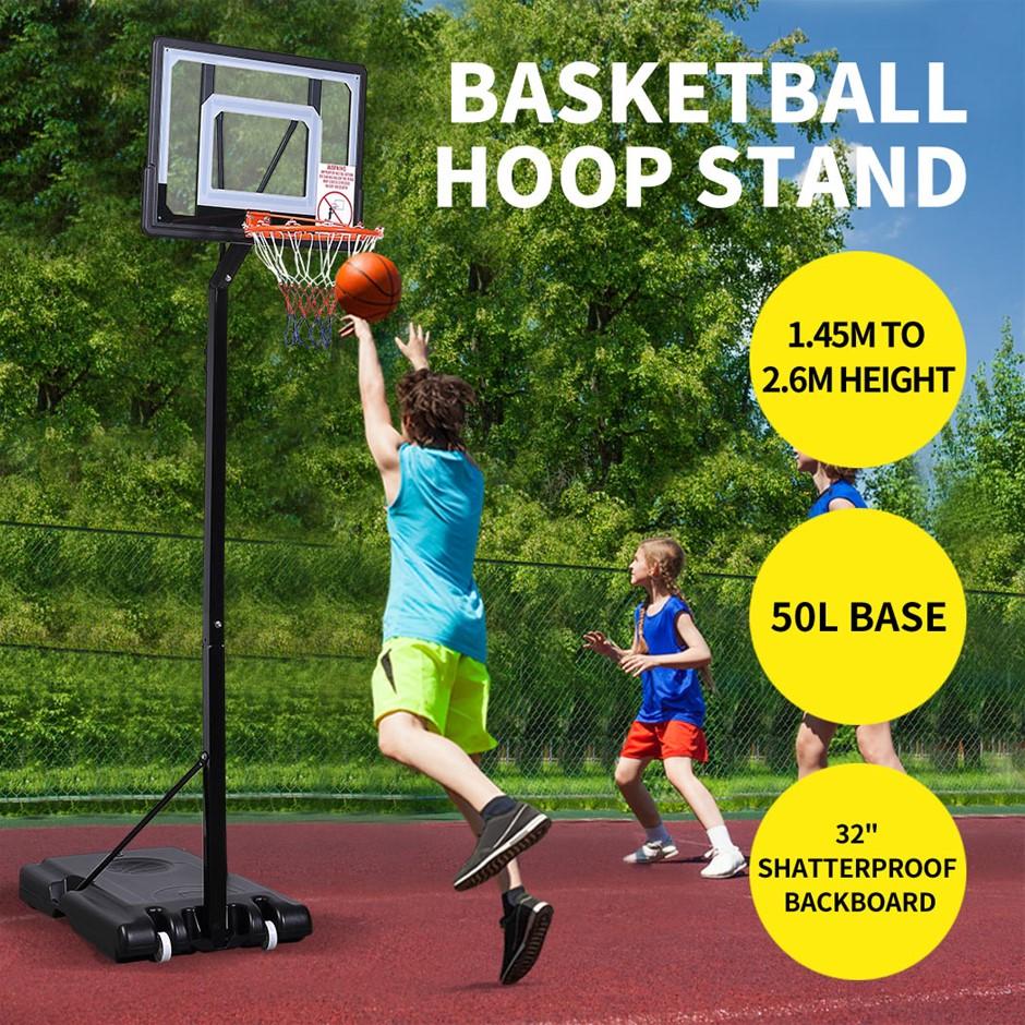 Basketball Hoop Stand Kid Rim Ring System Large Backboard Net