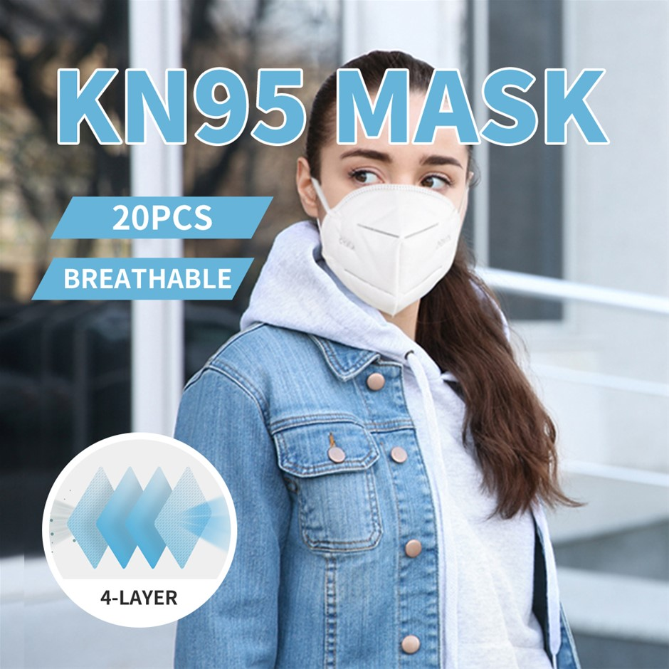 N95 KN95 Mask Filter Face Masks Reusable Respirator Disposable AntiDust x20