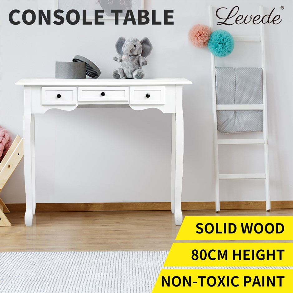 Levede Console Tables Hallway Entry Wooden Side Display Stand