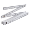 4 x TOLSEN ABS Folding Rulers 2M/80ins. Buyers Note - Discount Freight Rate