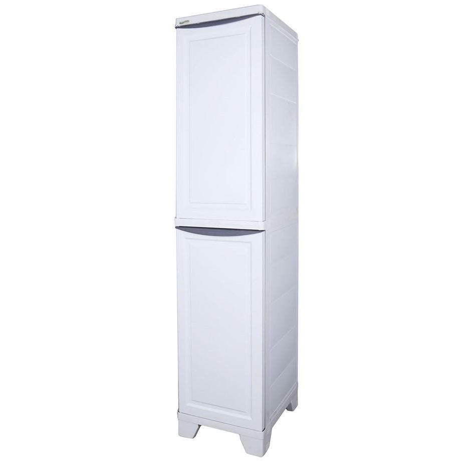 TRIOPLAST Resin Indoor/Outdoor Cabinet w/ 3 Shelves, 185cm (H) x 380cm (W)