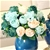SOGA 3pcs Artificial Silk W/ 15 Heads Flower Fake Rose Bouquet Table Decor