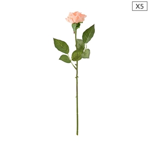SOGA 5pcs Artificial Silk Flower Fake Ro