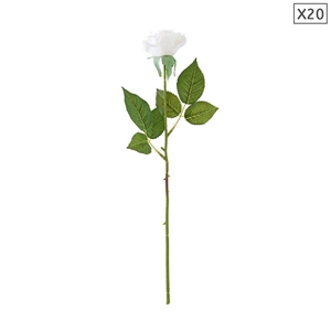 SOGA 20pcs Artificial Silk Flower Fake R