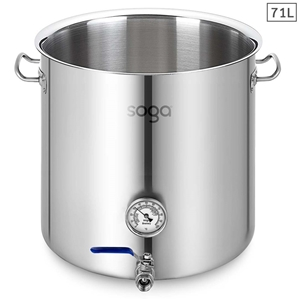 SOGA Stainless Steel 71L No Lid Brewery