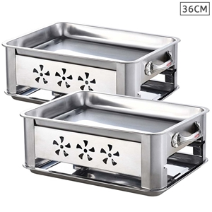 2X 36CM Portable SS Outdoor Chafing Dish