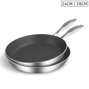 SOGA SS Fry Pan 24cm 28cm Frying Pan Ind