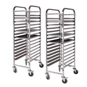 SOGA 2X Gastronorm Trolley 15 Tier SS Ca