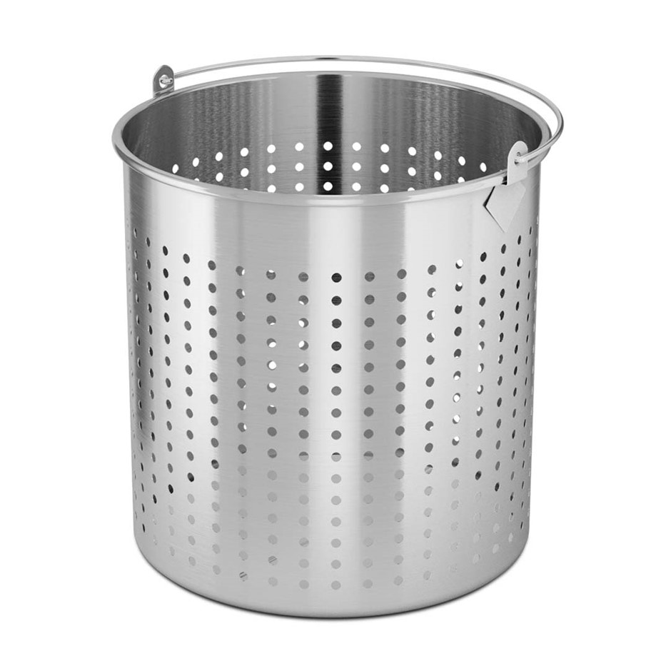 SOGA 98L 18/10 SS Perforated Stockpot Basket Pasta Strainer W/ Handle