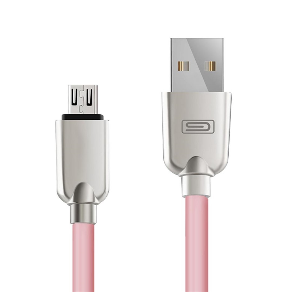 Android 1.5M Lightning Micro USB Data Sync Charger Cable Cord Samsung Pink