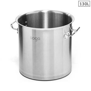 SOGA Stock Pot 130L Top Grade Thick SS S