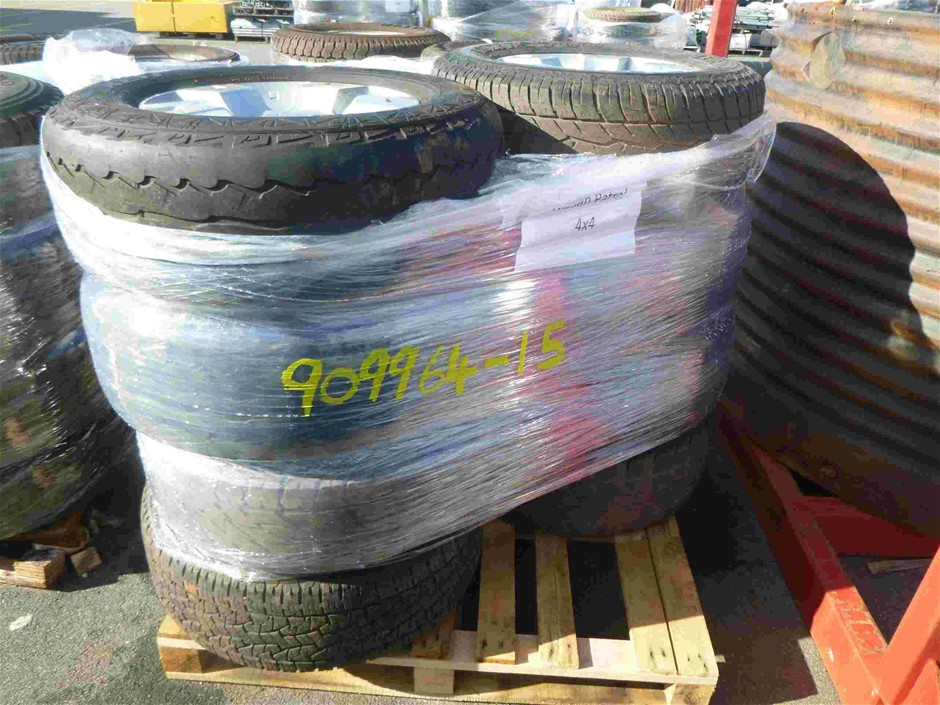 Pallet of 8x Rims & Tyres to Suit Nissan Patrol