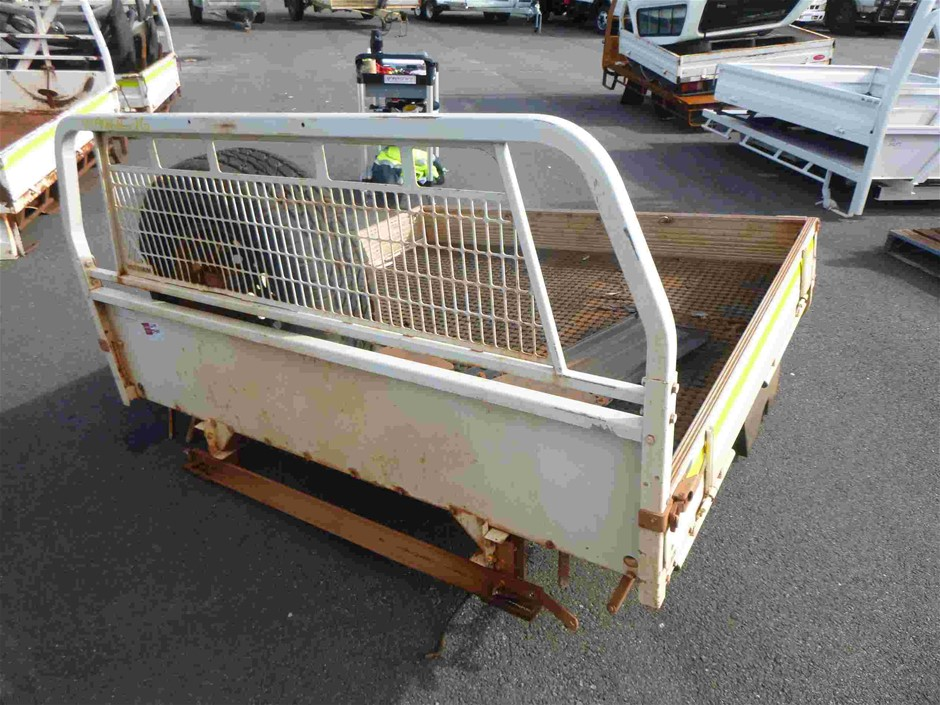 Minecorp UTE Tray Body with Spare Tyre, Tail Lights, Black Water Tank