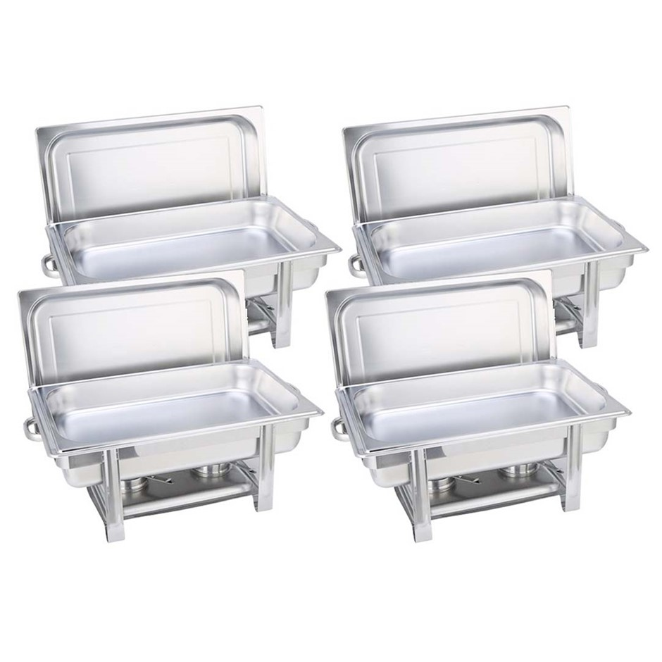 SOGA 4X Stainless Steel Chafing Single Tray Catering Dish Food Warmer