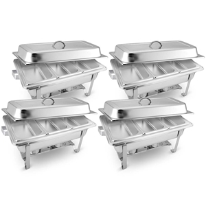 SOGA 4X Stainless Steel Chafing Food War