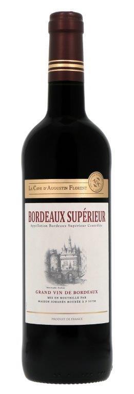 La Cave d'Augustin Florent Bordeaux Superieur 2017 (6 x 750mL) Bordeaux AOC