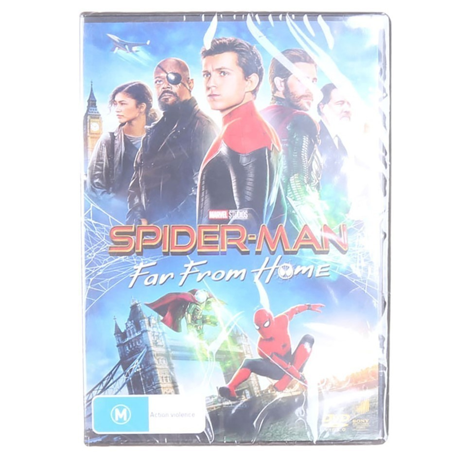 SPIDERMAN ``Far From Home`` DVD. Buyers Note - Discount Freight Rates Apply