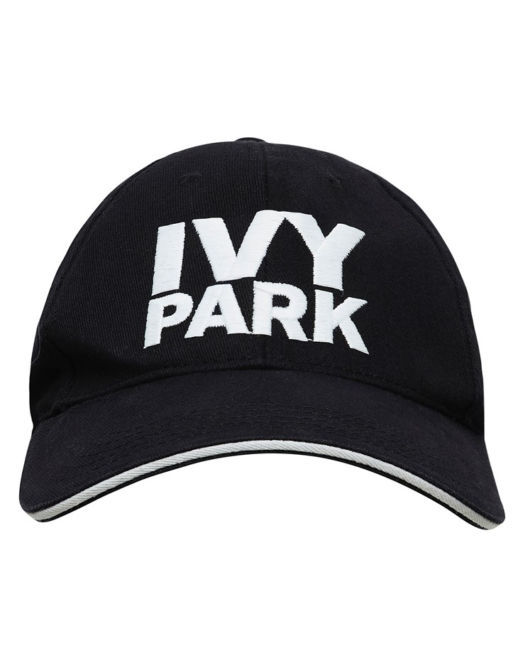 IVY PARK Stacked Logo Baseball Cap. One Size, Colour: Black. Cotton Blend.