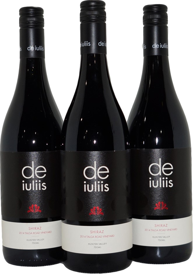 De Iuliis Talga Road Hunter Valley Shiraz 2014 (3x 750mL), NSW, Screwcap