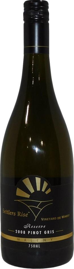 Settlers Rise Reserve Pinot Gris 2008 (6x 750mL), Granite Belt. Screwcap