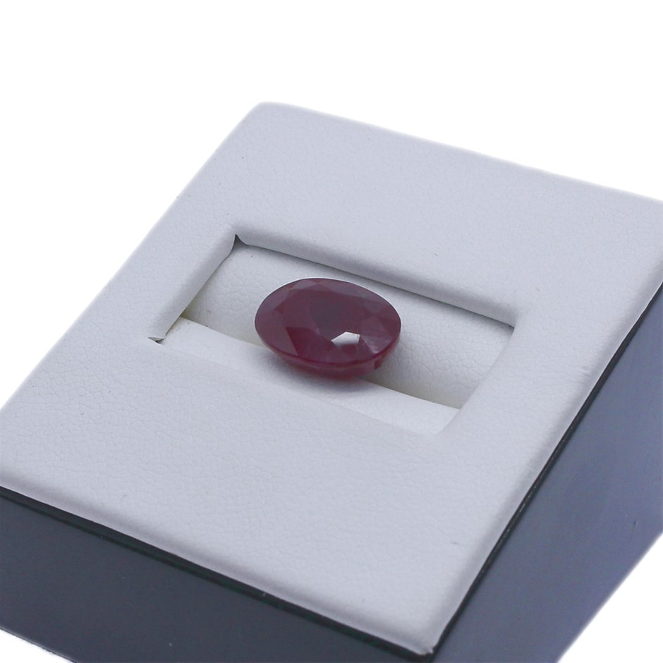 One Loose Oval Shaped Ruby 7.40ct