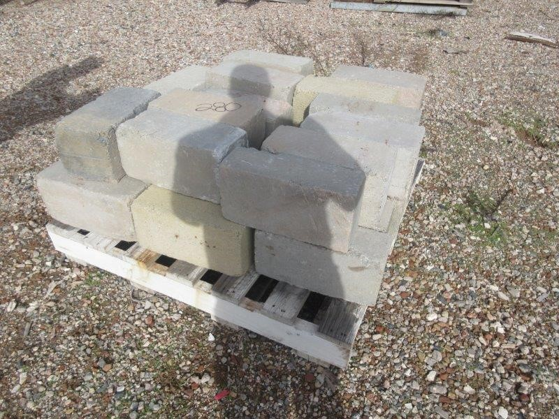 2 x Pallets of Concrete Blocks of Various Sizes