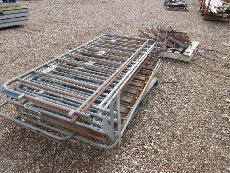 Pallet of Temporary Barrier Fencing and Pallet of Barrier Fencing Feet