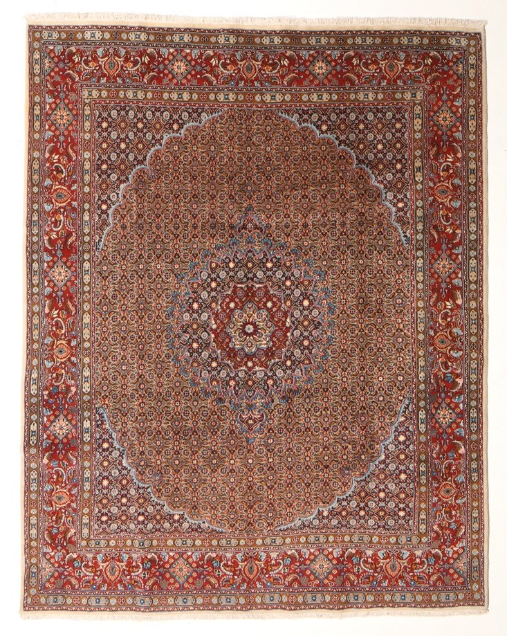 Handmade Very Persian Masterpiece Micron Wool Pile with Silk: 192 x 242cm