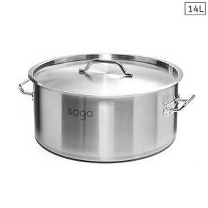 SOGA Stock Pot Top Grade Thick Stainless