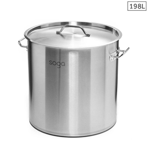 SOGA Stock Pot 198Lt Top Grade Thick S/S