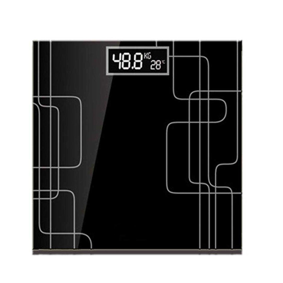 SOGA 180kg Elec. Talking Scale Wght Fitness Glass Bathroom Scale LCD Disp.