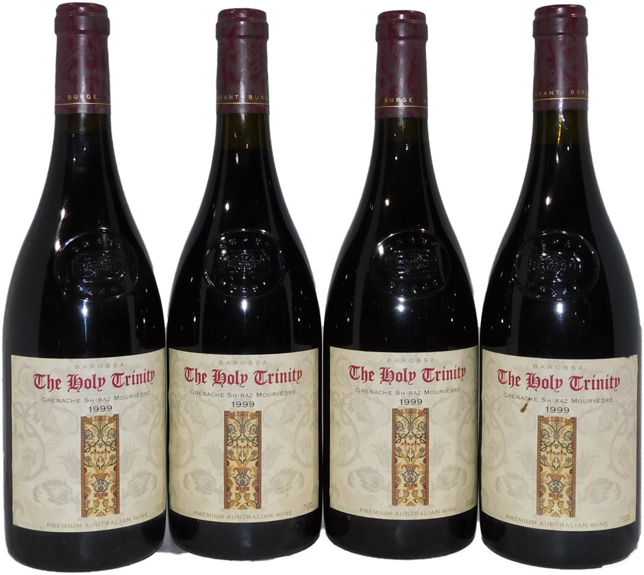 Grant Burge The Holy Trinity GSM 1999 (4x 750mL), Barossa. Cork